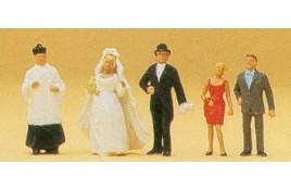 Catholic Wedding Group 5 Figure Set OO/HO Scale