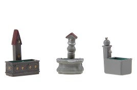 Fountains x 3 OO/HO Scale