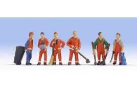 City Cleaners (6) and Accessories Figure HO/OO