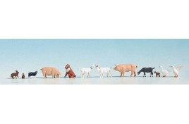 Farm Animals Assorted x12 - OO/HO Scale
