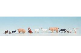 Farm Animals Assorted x12 - OO/HO Scale