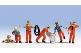Workers with Accessories x 6 N Scale