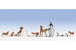 Dogs & Cats x 10 N Scale