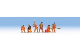 Railway Track Workers (6) HO/OO Gauge