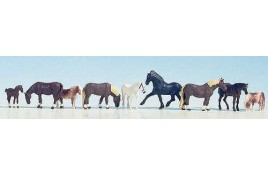 Horses (9) Figure Set Gauge HO/OO
