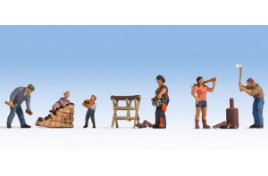 Forest workers  5 Figure Set N Scale