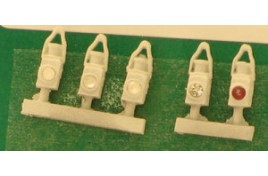 BR Head & Tail Lamps White x 5 OO Scale