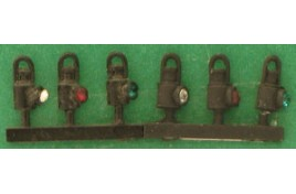 Hand Signal Lamps Black x 5 OO Scale