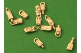 DA8 Unpainted Assorted Lamps OO gauge