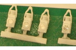 BR Tail Lamps White x 5 N Scale