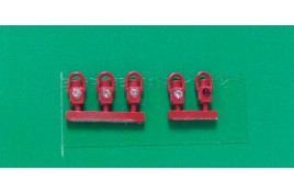 GWR  Head & Tail Lamps Red x 5 N Scale