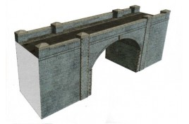 Blue Brick Bridge / Tunnel Card Kit OO Scale