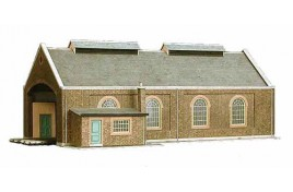 Two Road Locomotive Shed Card Kit OO Scale