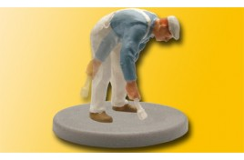 Moving Painter Stooping OO/HO Scale