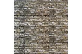 Random Stone Wall Embossed Card N Scale