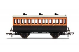 3rd Class 4 Wheel Coach LSWR 302 With Fitted Lights OO Gauge