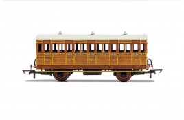 3rd Class 4 Wheel Coach GNR 1505  With Fitted Lights OO Gauge