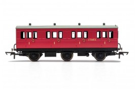 1st Class BR E41373 6 Wheel Coach With Fitted Lights OO Gauge