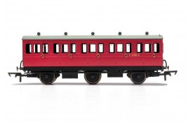 3rd Class BR E31085 6 Wheel Coach With Fitted Lights OO Gauge
