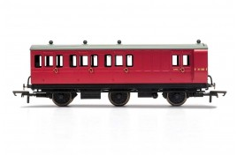 3rd Class BR E31185 6 Wheel Coach With Fitted Lights OO Gauge