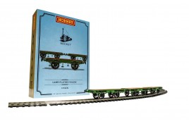 L&MR Stephenson's Rocket Flat Bed Wagon Triple Pack OO Gauge