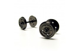 14.1mm Metal Disc Wheels 4 Hole Pack of 10 Assembled Axle Sets