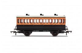 LSWR 3rd class  4 Wheel Coach OO Gauge