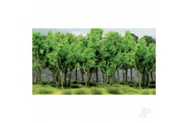 "Woods Edge Trees Green 15pcs 2""-2 1/2"" (5cm-6cm) Height"