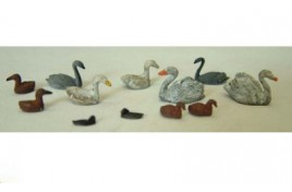 Waterfowl (Painted) OO Scale