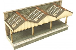 Wall Backed Platform Canopy N Scale