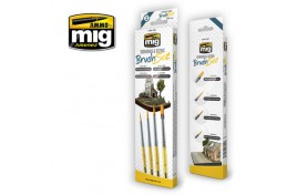 Mig Dioramas and Scenic Brush Set Pack of 4