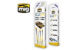 Mig Streaking and Vertical Sufaces Brush Set Pack of 4