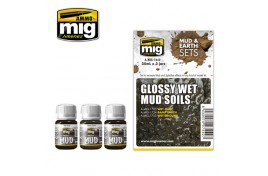 Glossy Wet Mud Soils (Mud and Earth) Set