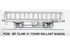 BR 'Clam' 21 Tonne Ballast Wagon OO Gauge