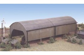 Carriage Shed Plastic Kit N Scale