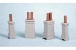 Chimneys & Chimney Pots N Scale
