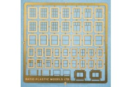 Domestic Windows- Various Designs on Etched Brass Sheet N Scale