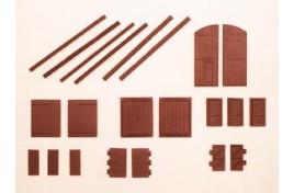 Doors - Assorted (Plastic) N Scale