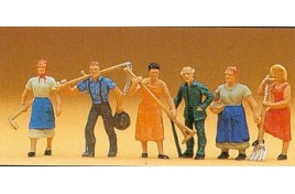 Farm Workers with Tools x 6 OO/HO Scale