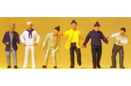 Ship's Crew/ Fishermen x 6 OO/HO Scale