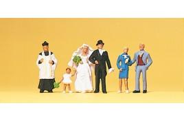 Catholic Wedding Group 6 Figure Set OO/HO Scale