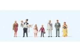 Wedding Group 8 Figure Set OO/HO Scale