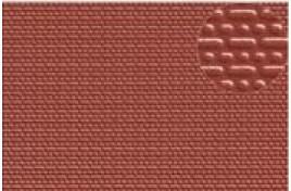English Bond Red Brick Embossed Plastic Sheet N Scale