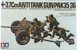 MILITARY MINIATURES 3.7CM ANTI-TANK GUN PAK35/36