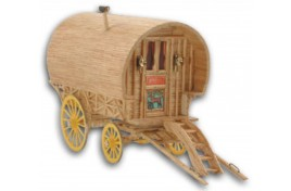 Bow Top Caravan Matchstick Kit 1:20 Scale