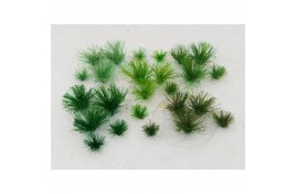 5mm Assorted Green Tufts x 30