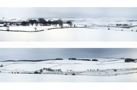 402 Winter Hills 10 Feet x 15 Inches OO Scale