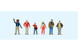 At the Carnival Parade (set 1) x 6 figures OO/HO Scale