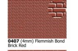 4mm  Flemish bond  Brick Red OO Scale