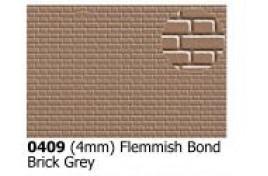 4mm  Flemish bond  Brick Grey OO Scale
